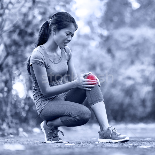 Knee Injury - sports running knee injuries on woman Stock photo © Maridav