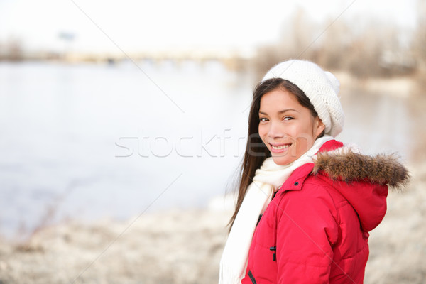 Winter woman portrait outside Stock photo © Maridav