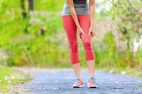 Sport muscle blessure Homme coureur cuisse Photo stock © Maridav