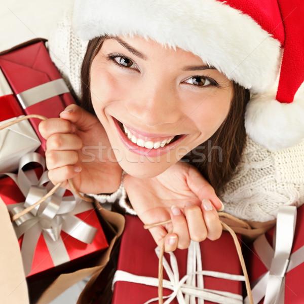 Noël cadeaux femme Shopping Photo stock © Maridav