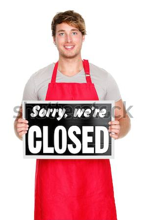Small business owner sign Stock photo © Maridav