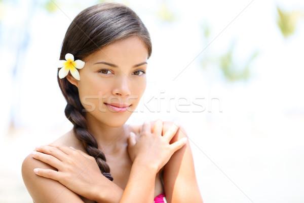 美しい 混血 少女 自然の美 肖像 屋外 ストックフォト © Maridav