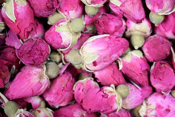 Dried rosebuds background texture closeup Stock photo © Maridav