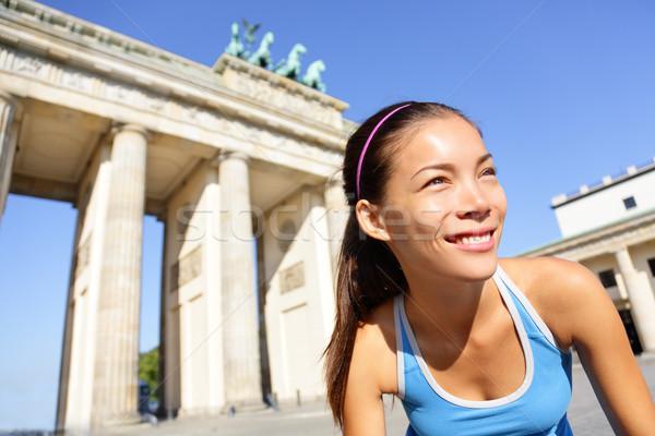 Runner woman running in Berlin, Germany Stock photo © Maridav