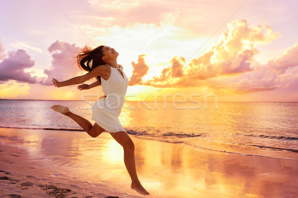 Freedom wellness happiness concept - happy woman Stock photo © Maridav