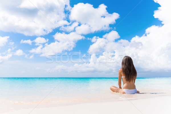 Beach vacation dream woman enjoying summer holiday Stock photo © Maridav