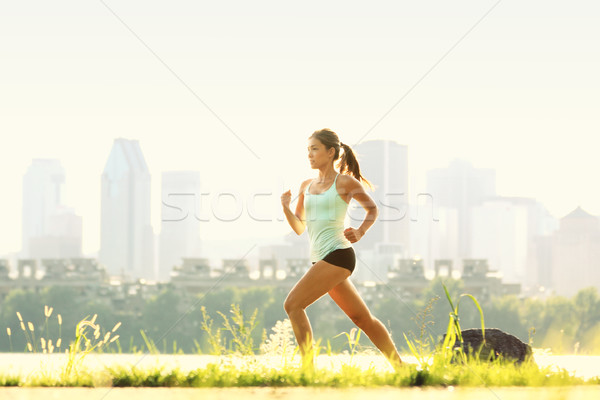 Stock photo: Running woman