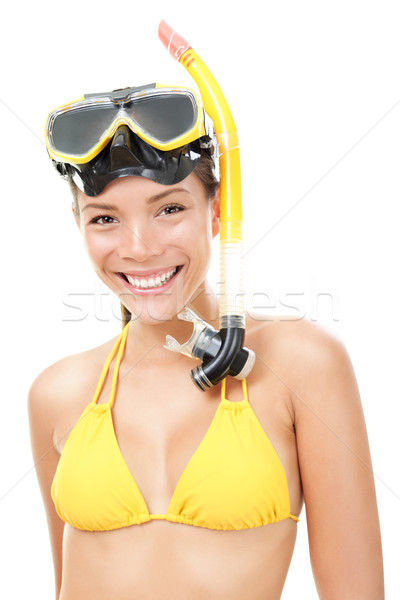 Person with mask and flippers Stock photo © Maridav