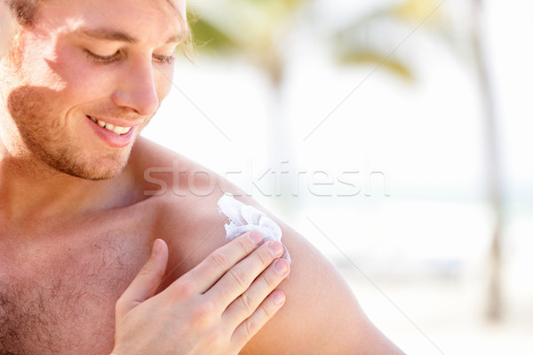 Solar cream / sunscreen Stock photo © Maridav