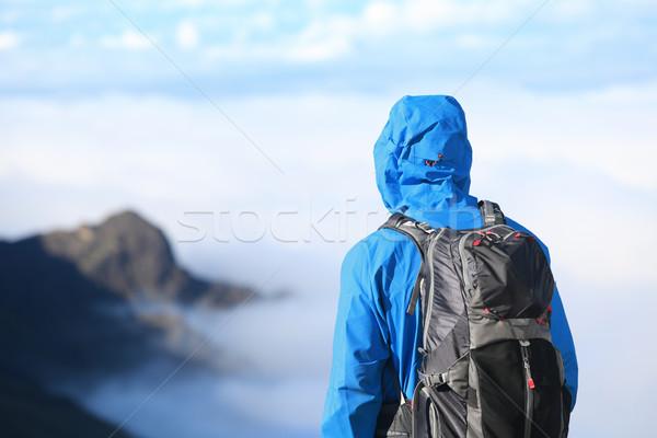 Hiker looking at view Stock photo © Maridav