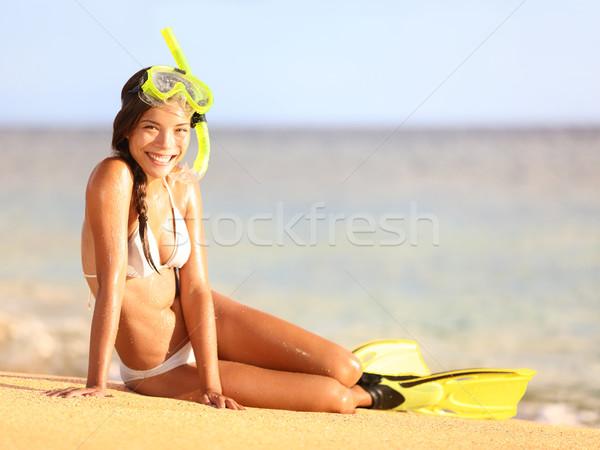 Vacanze spiaggia donna estate vacanze Foto d'archivio © Maridav