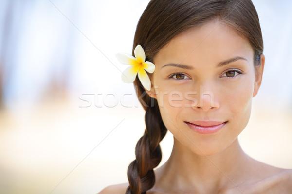 女性 自然の美 肖像 美しい 笑みを浮かべて ブルネット ストックフォト © Maridav