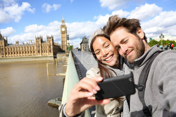 Londres touristiques couple photo Big Ben Photo stock © Maridav