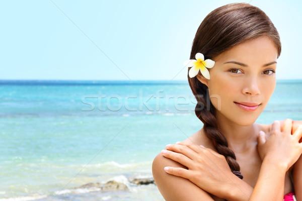 Beach wellness spa beauty woman Stock photo © Maridav