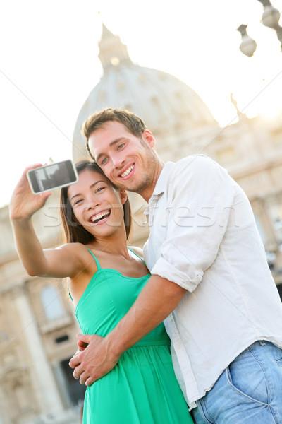 観光客 カップル バチカン市国 ローマ サン·ピエトロ大聖堂 教会 ストックフォト © Maridav