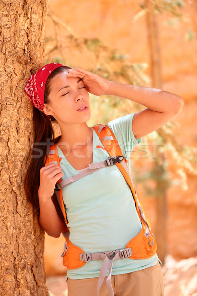 Dehydration thirst heat stroke exhaustion concept Stock photo © Maridav