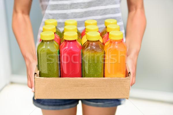 Hideg zöldség detoxikáló diéta diétázás test Stock fotó © Maridav
