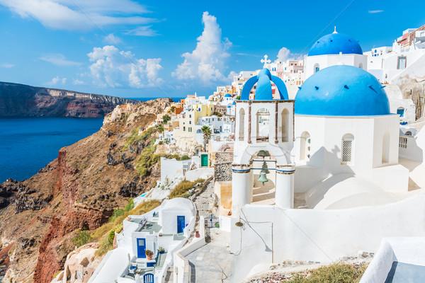Európa Görögország híres úticél Santorini turisztikai Stock fotó © Maridav