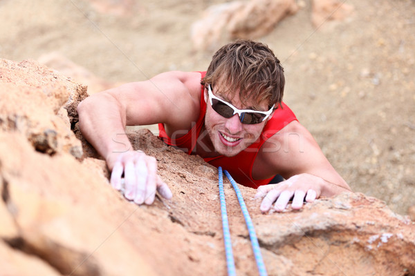 Climbing - male climber Stock photo © Maridav