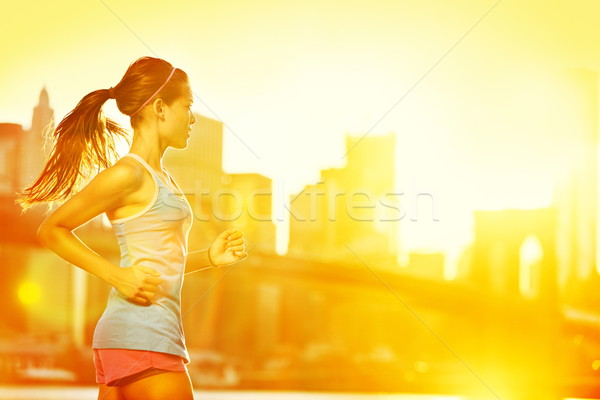 Running woman Stock photo © Maridav