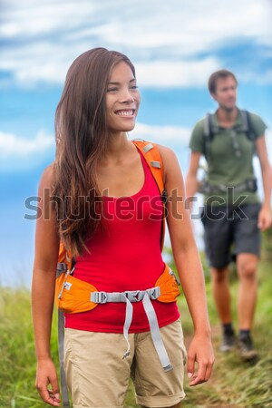 Young multicultural couple outdoors Stock photo © Maridav