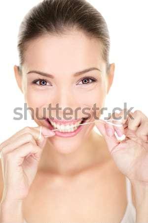 Headset woman smiling call center customer service Stock photo © Maridav