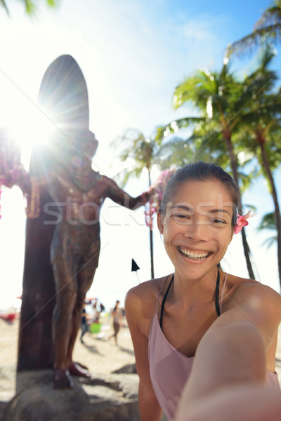 Waikiki strand toeristische Honolulu Hawaii Stockfoto © Maridav