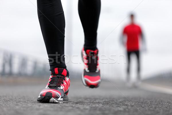 Scarpe da corsa uomini runners inverno primo piano Foto d'archivio © Maridav