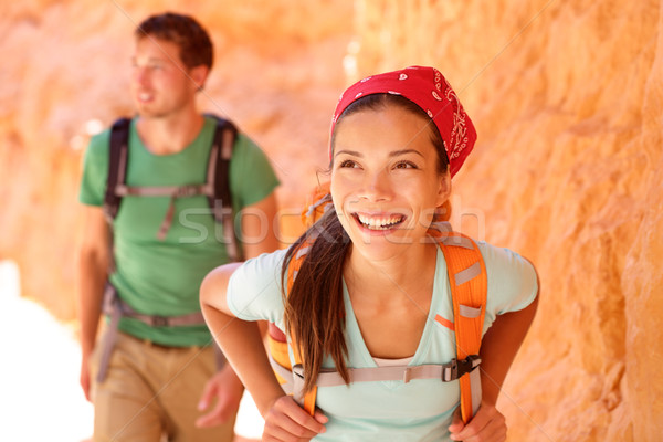 Hiking people - couple hikers in Bryce Canyon Stock photo © Maridav