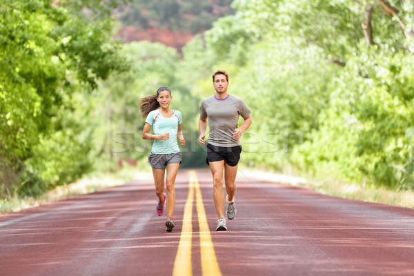 Lopen gezondheid fitness lopers jogging lopen Stockfoto © Maridav
