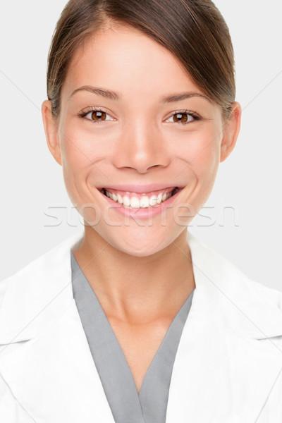 Foto stock: Mujer · farmacéutico · retrato · jóvenes · profesional · científico