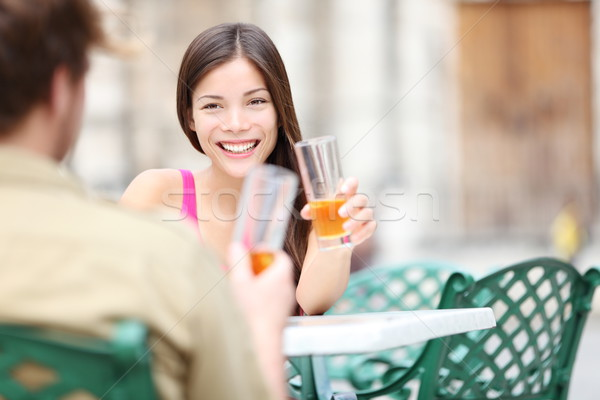 Cafe lifestyle woman Stock photo © Maridav