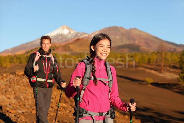 Pessoas caminhadas saudável ativo estilo de vida casal Foto stock © Maridav