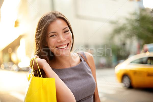 Shopping business woman in New York City Stock photo © Maridav