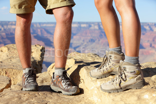 Hiking shoes on hikers in Grand Canyon Stock photo © Maridav