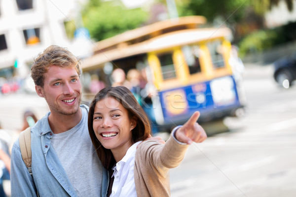San Francisco city travel couple tourists Stock photo © Maridav