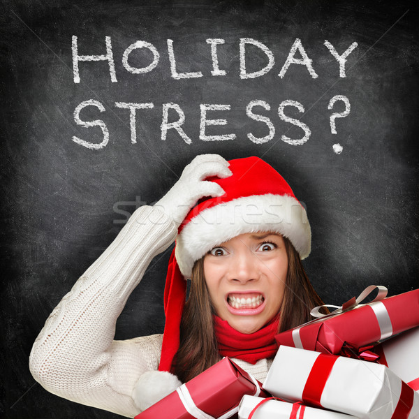 Christmas holiday stress - stressed shopping gifts Stock photo © Maridav