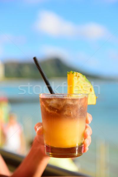 Stock fotó: Ital · tengerpart · bár · közelkép · alkoholos · ital · barátok
