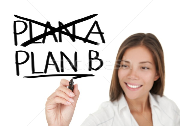 Business plan - woman drawing Stock photo © Maridav