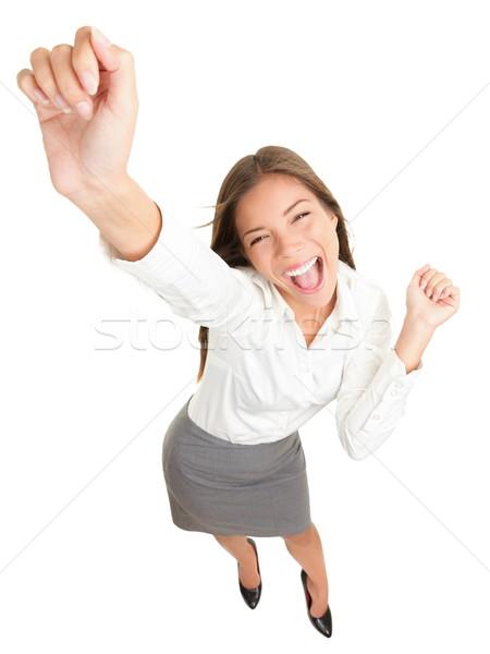 Erfolg business woman Tanz erfolgreich Geschäftsfrau Jubel Stock foto © Maridav