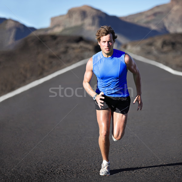 Sport man running Stock photo © Maridav