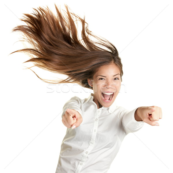 happy crazy excited woman screaming Stock photo © Maridav