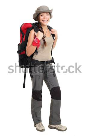 Hiker woman isolated Stock photo © Maridav