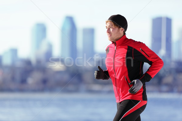 Athlete man running sport Stock photo © Maridav