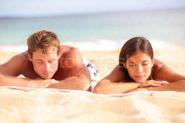 Relaxante adormecido praia banhos de sol Foto stock © Maridav