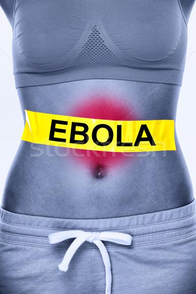 Wirusa zakażenie tekst kobieta żołądka pacjenta Zdjęcia stock © Maridav