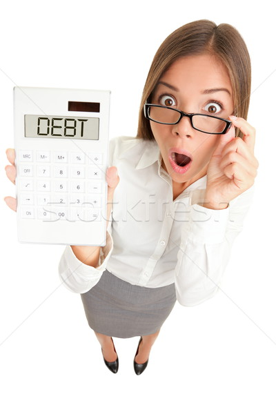 Stock photo: Debt money problems woman