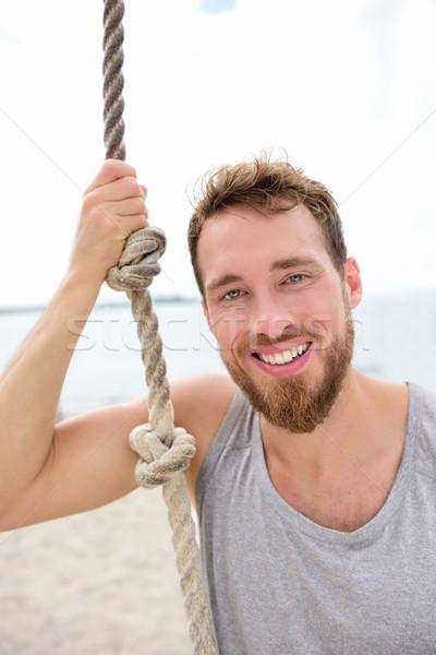 Fitness personnes portrait saine homme corde Photo stock © Maridav