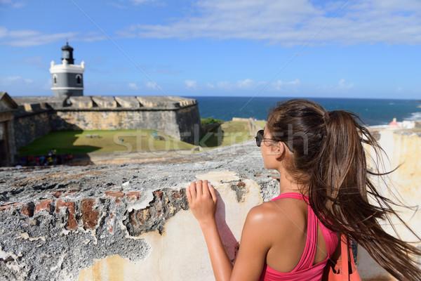 Puerto Rico travel tourist woman in San Juan Stock photo © Maridav