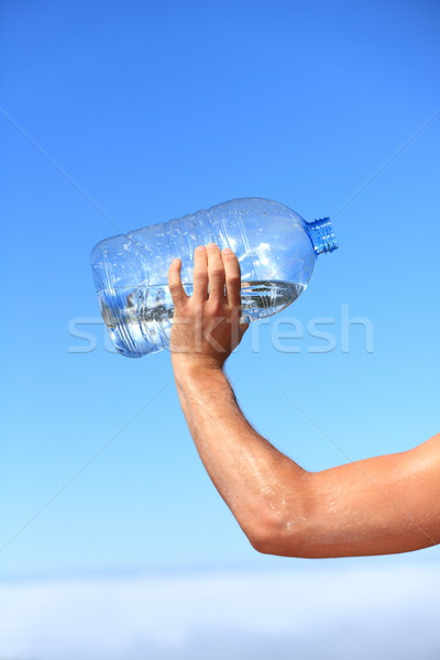 Thirsty man drinking water Stock photo © Maridav